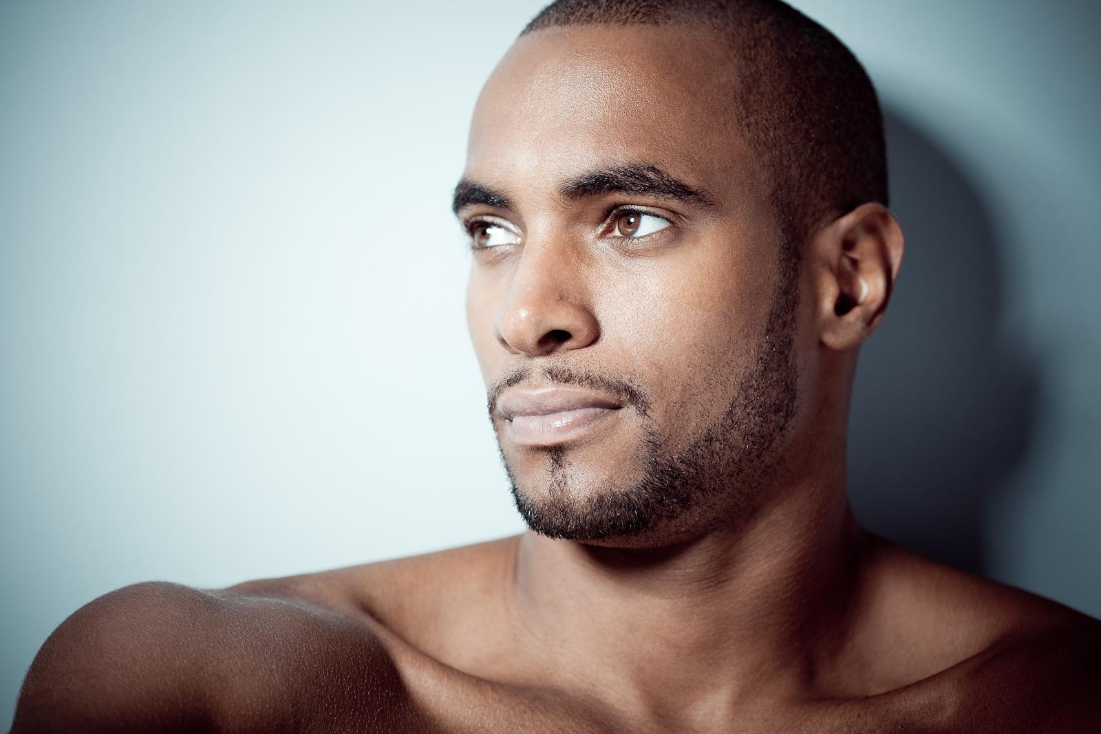 Beautiful black man portrait